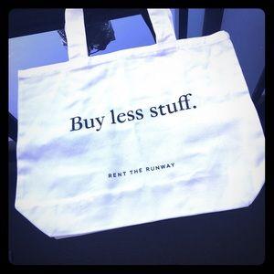 Handbags - Rent the runway white tote, card holder, sticker
